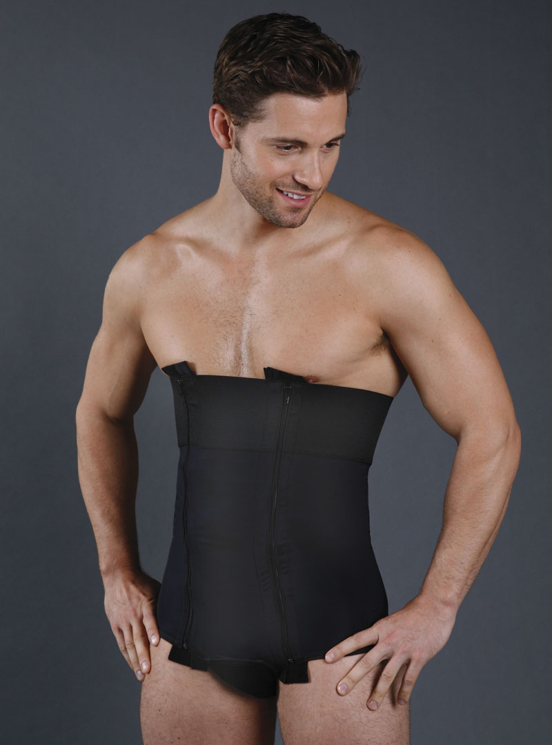 Men/'s Compression Garments Post Surgery Compression Full Body Shaper for Men