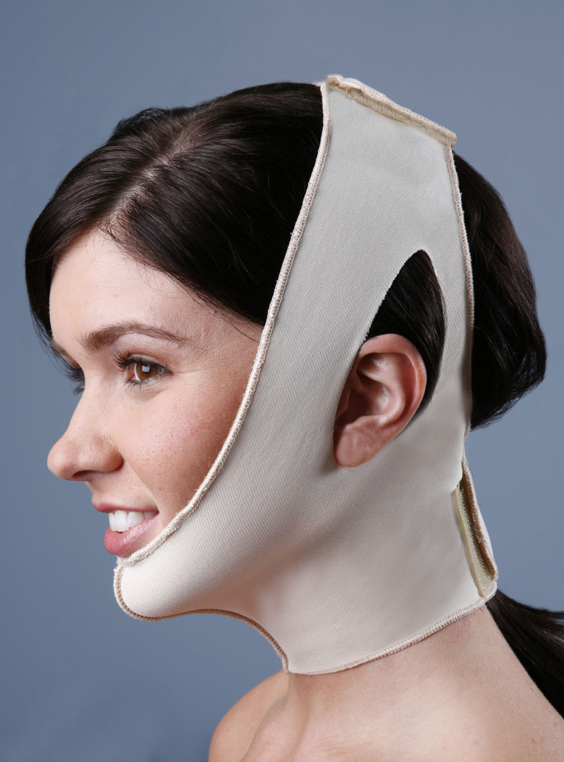 T-118H High Compression Two Strap Neck & Facial Support